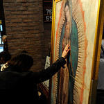 Traveling digital missionary image of Our Lady of Guadalupe as she appeared on San Juan Diego's tilma in 1531.